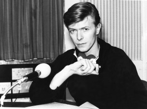 Picture shows_Archive image of David Bowie in BBC Radio studio, 1979