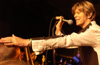 Picture shows_Archive image of David Bowie performing in a BBC concert recorded in September 2002 before an invited audience of 100 people - From the programme David Bowie Live and Exclusive (R2)